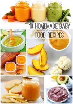 10 Homemade Baby food recipes #homemadebabyfood