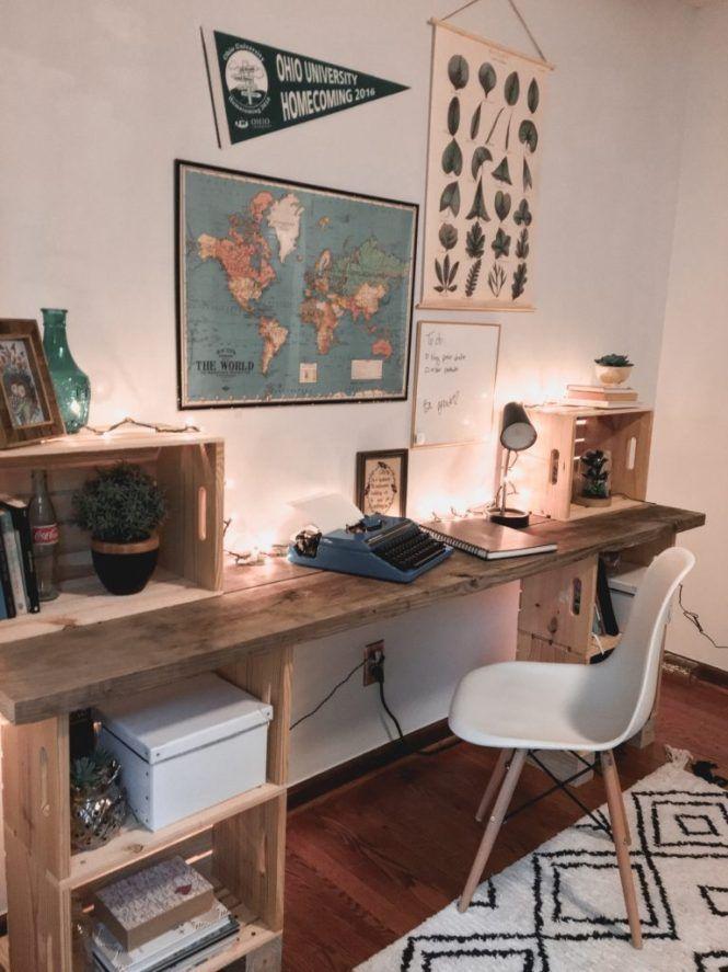 Photo of DIY Wood Desk • My Eclectic Grace