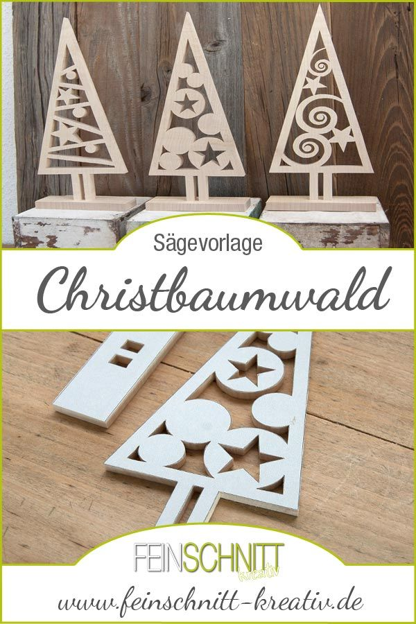 Laubsägevorlage Christbaumwald