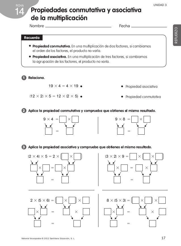 Refuerzo matemáticas 4º de primaria | mate 4 | Pinterest | Fichas de ...