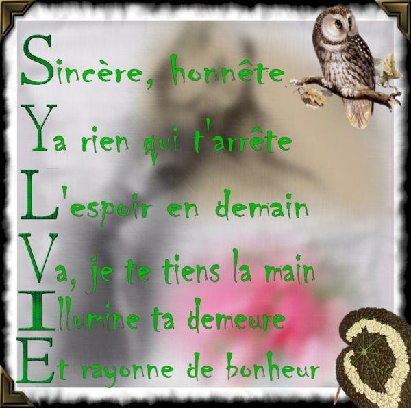 Epingle Par Elisabeth Bouix Sur Citations Signification Prenom Prenom Sylvie Belles Citations