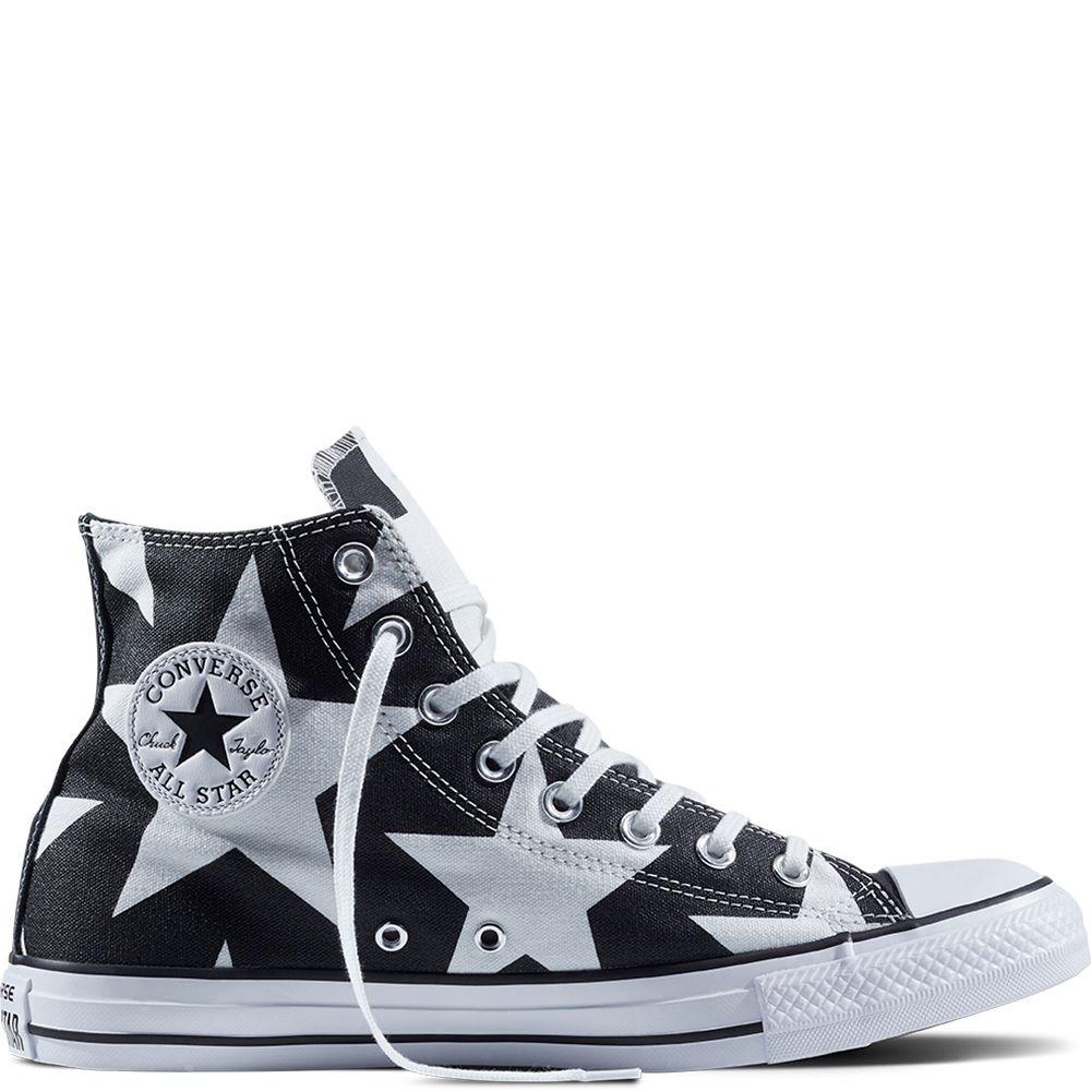 6a9b7351835bf3 Chuck Taylor All Star Big Star Print Black White White black white white