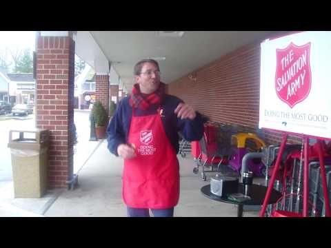 Michael Ganoe Salvation Army Bell Ringer Salvation Army Volunteer Winter Bucket List