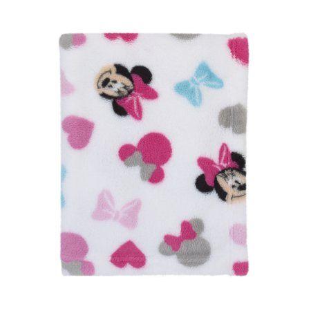 Baby Disney Minnie Mouse Fleece Printed Baby Blanket Pink Cute Gift