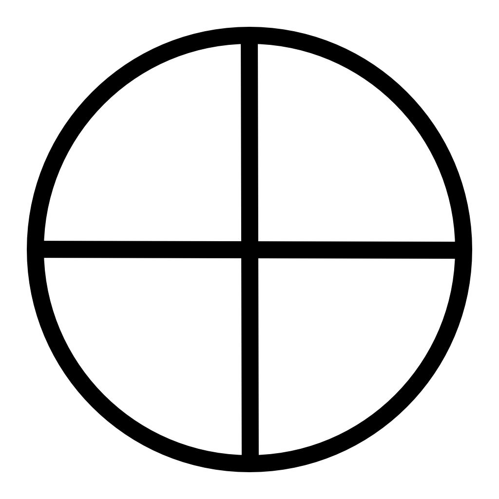 Solar Cross Pagan Decal In Wicca The Solar Cross Represents Not