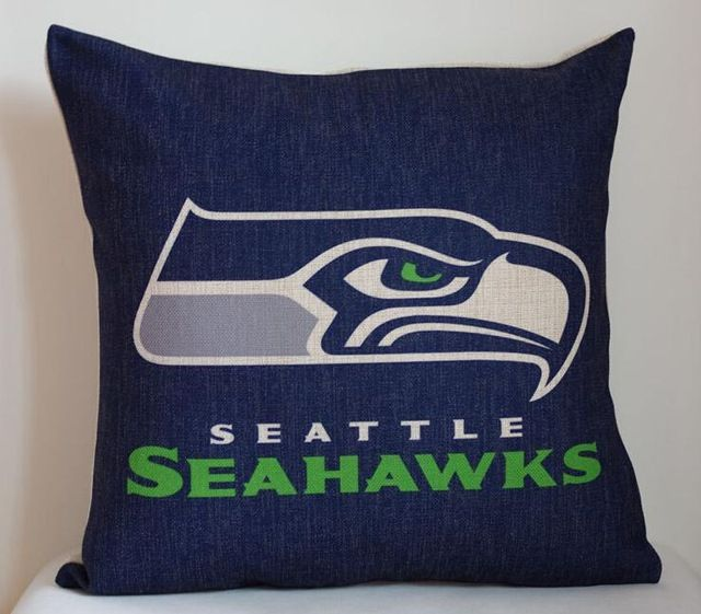 huge selection of 79b58 a4c8e NFL Seattle Seahawks pillow cover, Team logo NFL Seattle ...