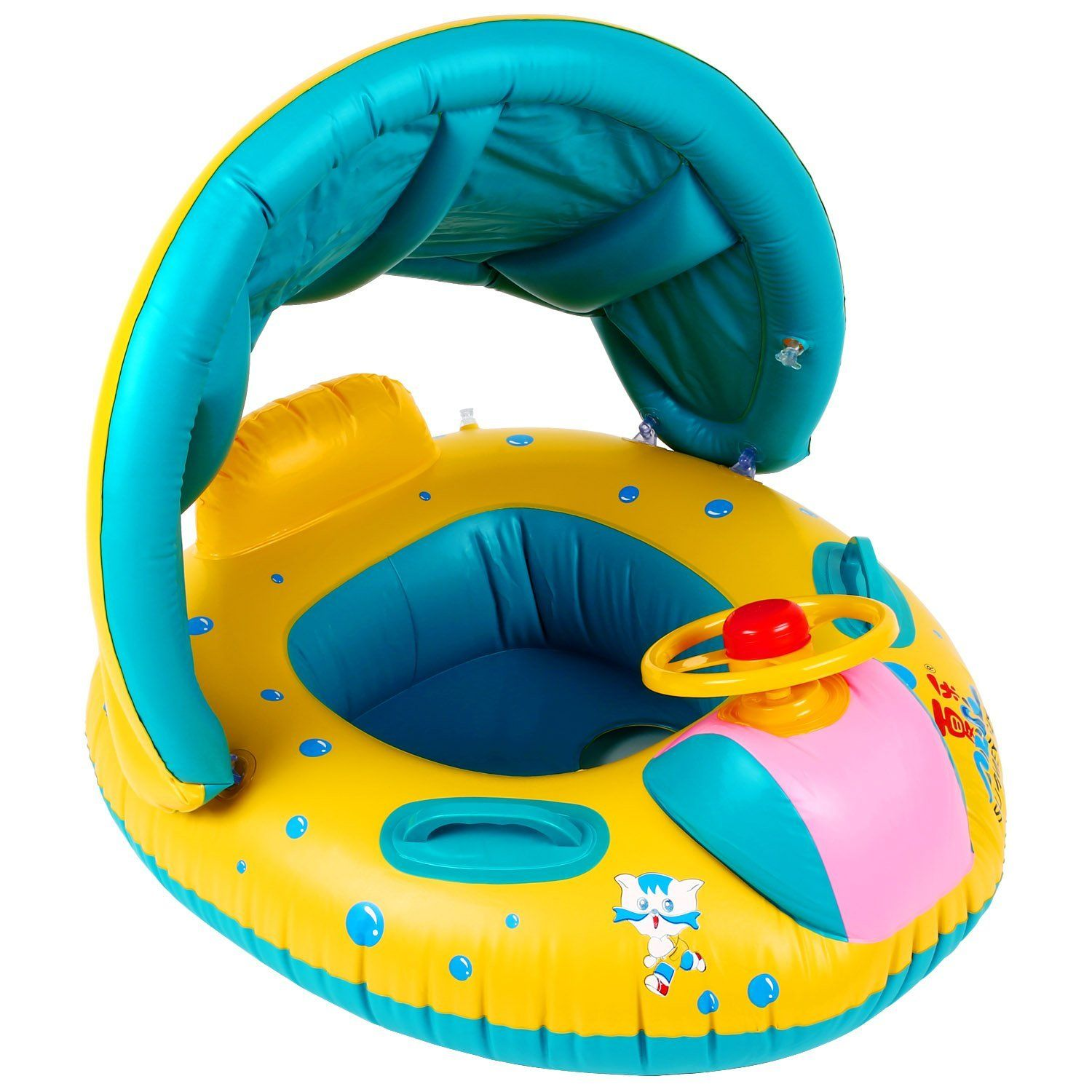 Peradix Pool Floats Baby Float Water Toys with Inflatable Canopy