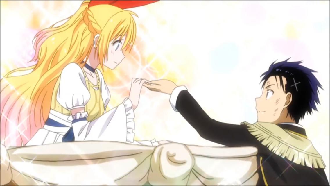 Nisekoi Red Ribbon Blonde Long Hair Chitoge Kirisaki Cute