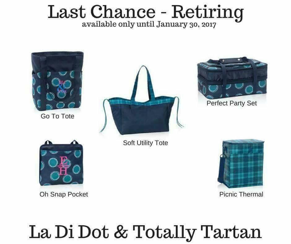 Thirty-One Bags La Di Dot Zip-Top Organizing Utility Tote Bag 7 pockets New.
