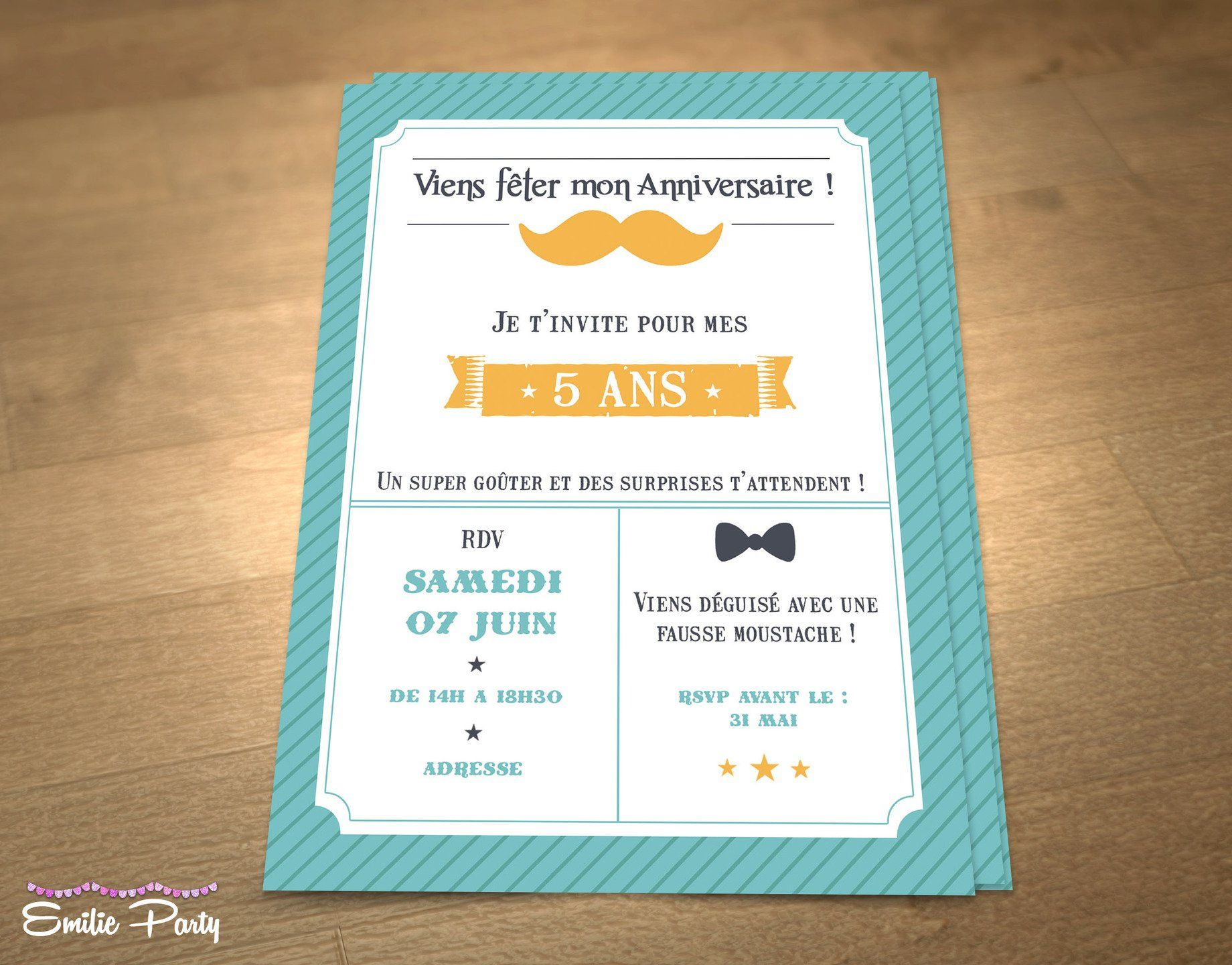 Bekannt 403 best carte invitation anniversaire images on Pinterest | 20  QV54