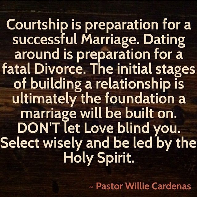 rules in dating and courtship