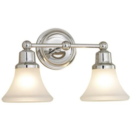 Elizabeth Polished Nickel Two Light Bath Fixture - would need to see if this came in a brushed nickel finish.