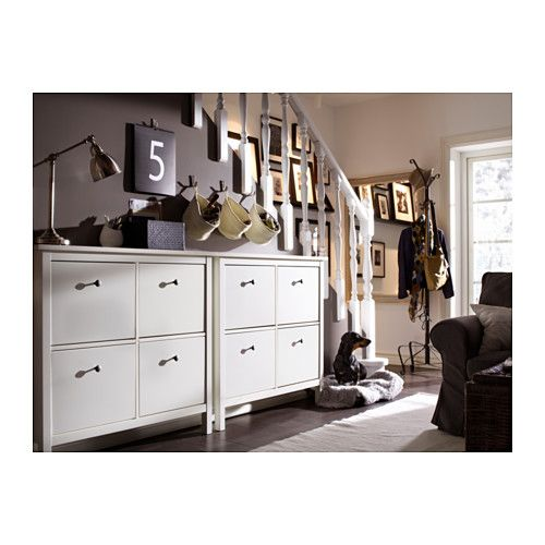 HEMNES Skoskåp 4 fack, vit Ikea, House och Inspiration