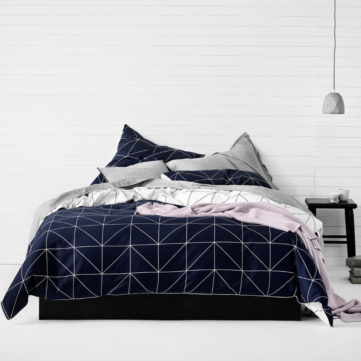 Bedroom Ideas Nz aura kami indigo duvet cover - nz super king - duvet covers