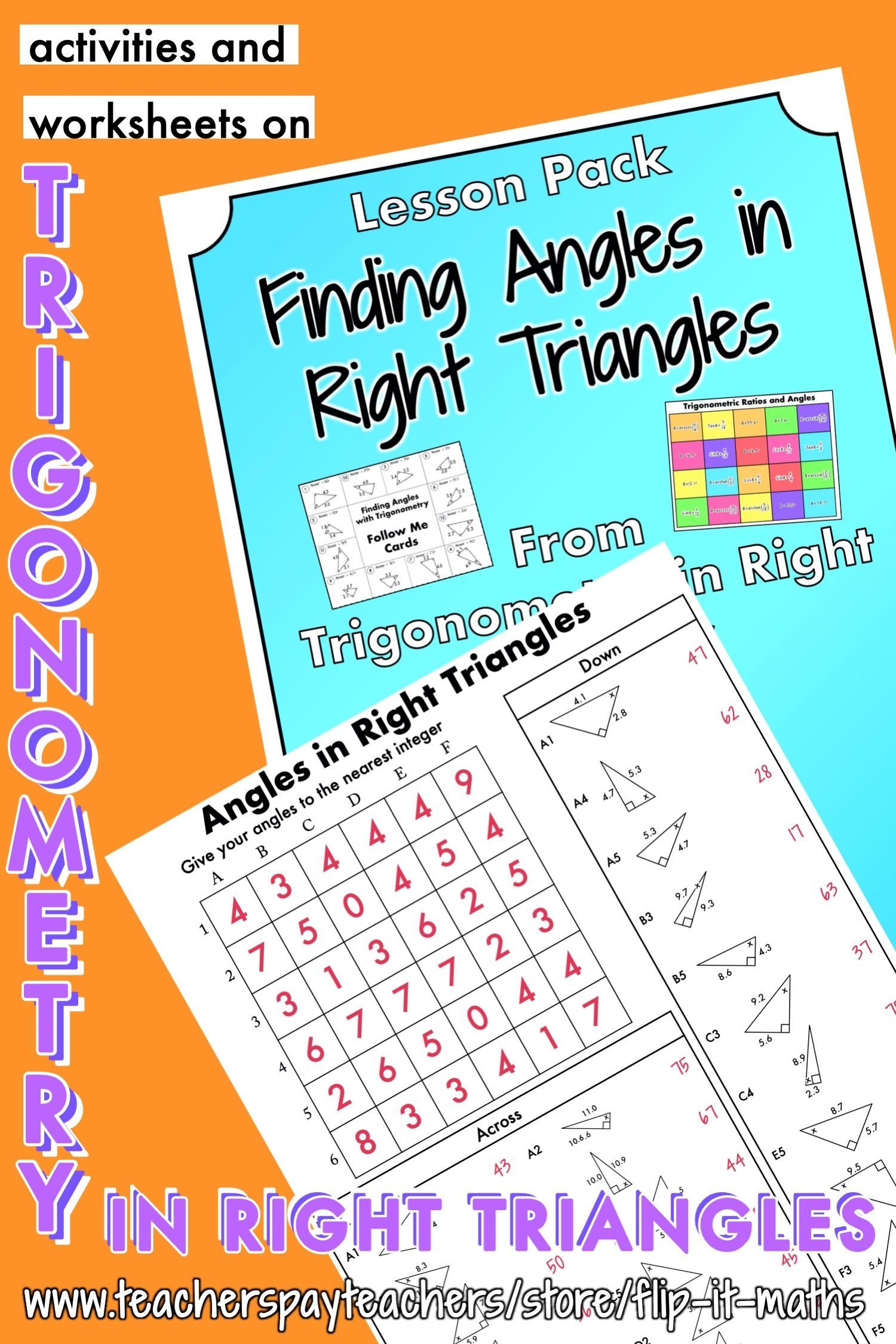 Finding Angles In Right Triangles In