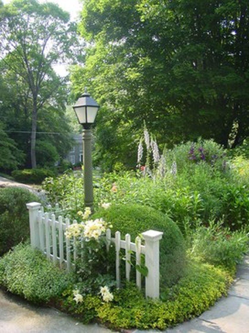 Front Yard Evergreen Landscape Garden 52