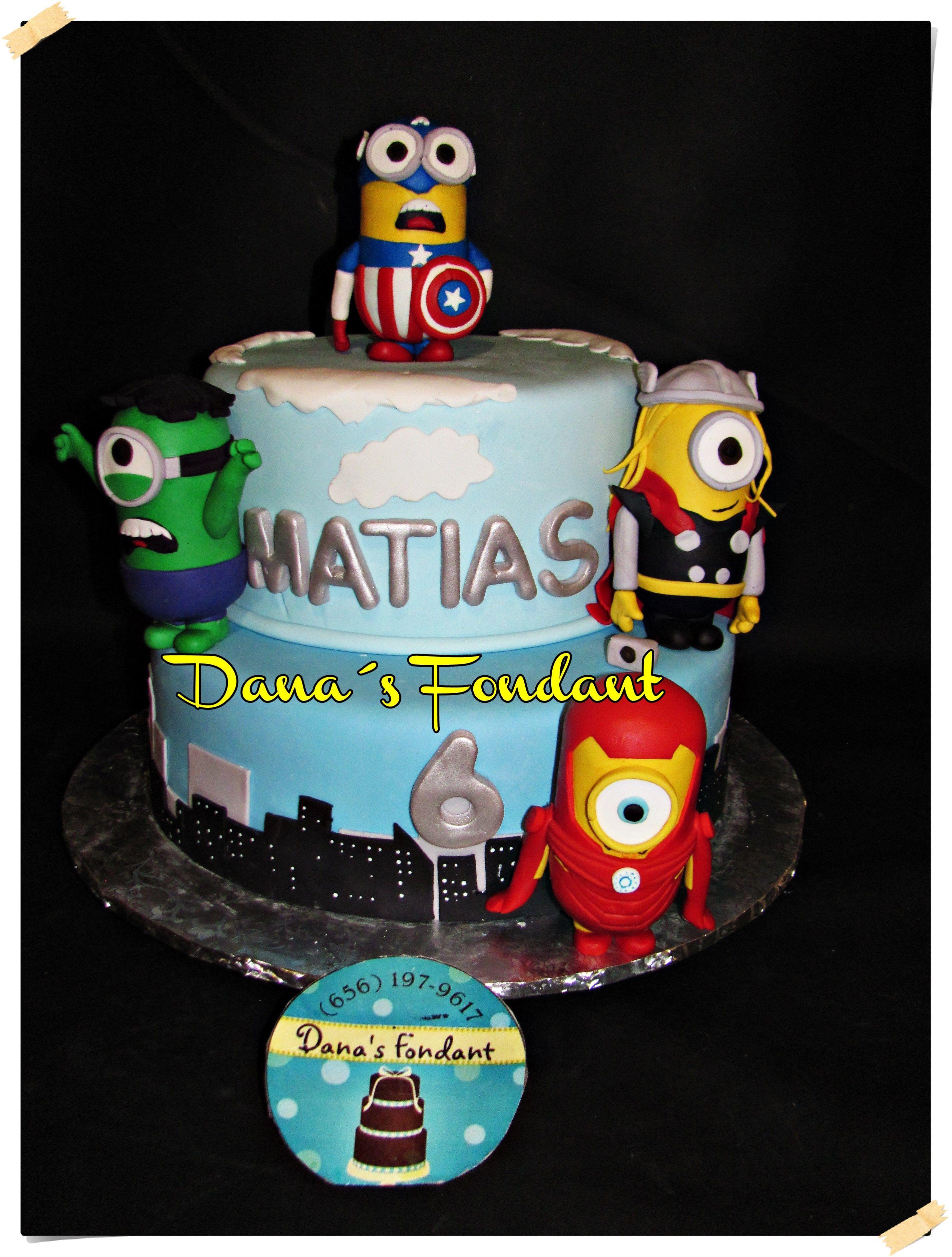 Minions Avengers cake Danas Fondant Pinterest Minion avengers