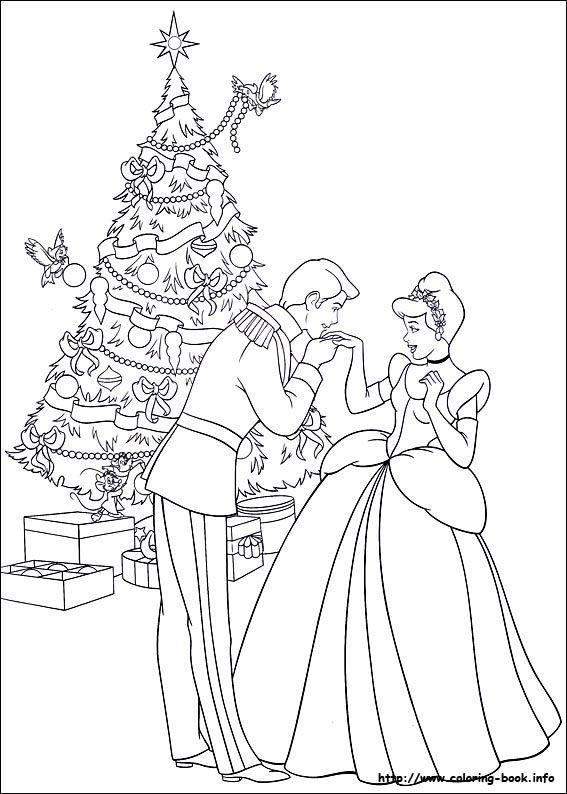 Christmas friends coloring picture cinderella pinterest coloriage cendrillon cendrillon - Coloriage cendrillon en ligne ...