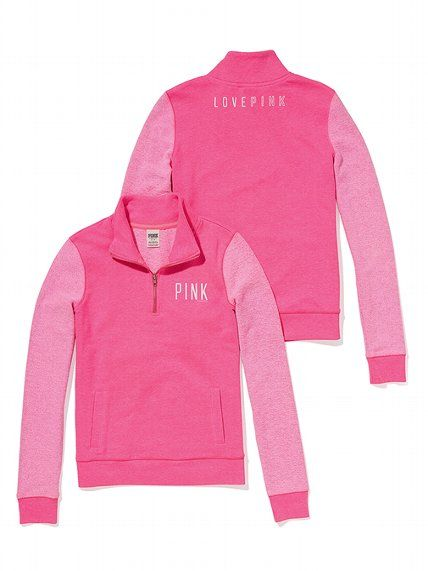 PINK Half-Zip Pullover #VictoriasSecret http://www.victoriassecret.com/pink/tops/half-zip-pullover-pink?ProductID=97095=OLS?cm_mmc=pinterest-_-product-_-x-_-x