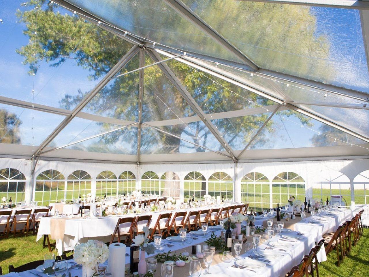 40x60cleartop3 Rent A Tent Top Tents Backyard Tent Wedding