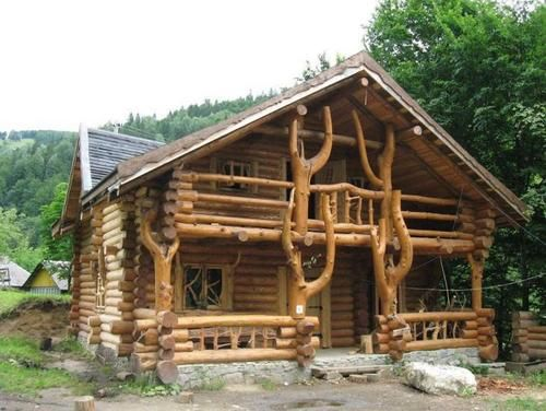 Amazing Log Home With A Wild Design Log Homes House In The