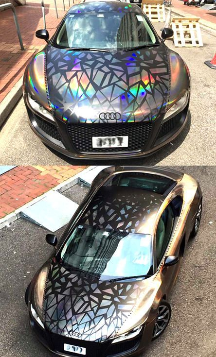 Holographic Audi R8 By Impressive Wrap | Concept Cars | Pinterest |  Holographic And Cars