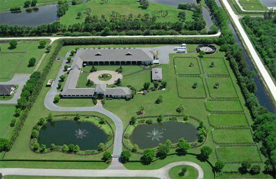 Luxury Equestrian Estate In Wellington, Florida..... Two Swans Farm