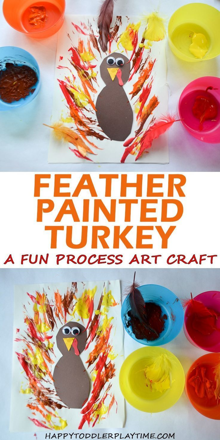 Feather Painted Turkey - HAPPY TODDLER PLAYTIME