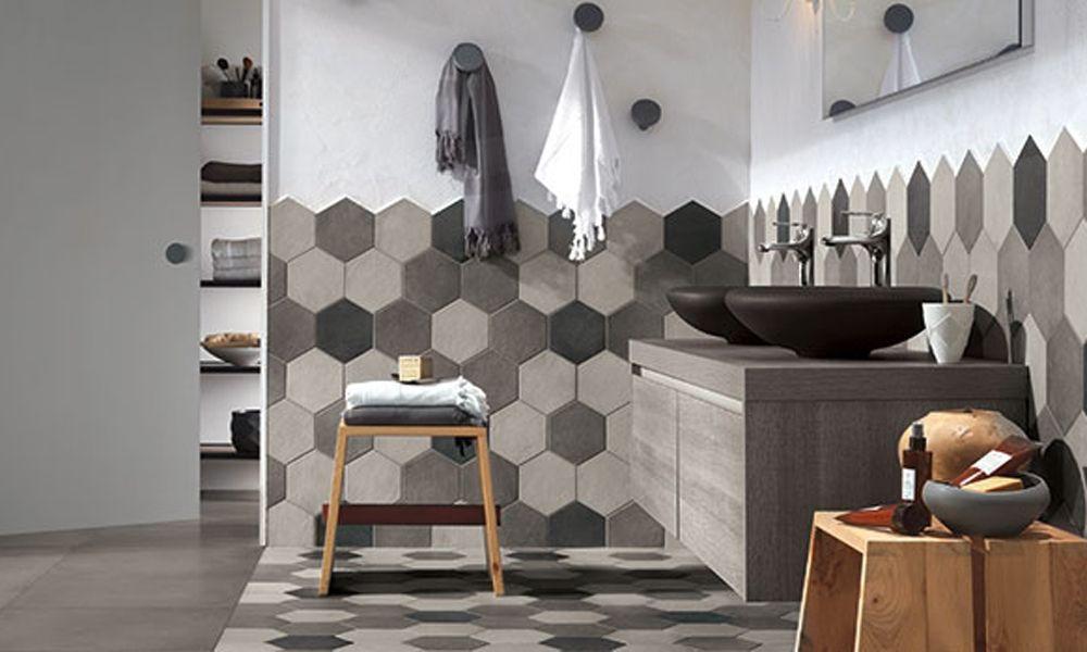 Ragno Rewind Hexagon Wall And Floor Tiles In The Bathroom Tile Floor Flooring Bathroom Floor Tiles