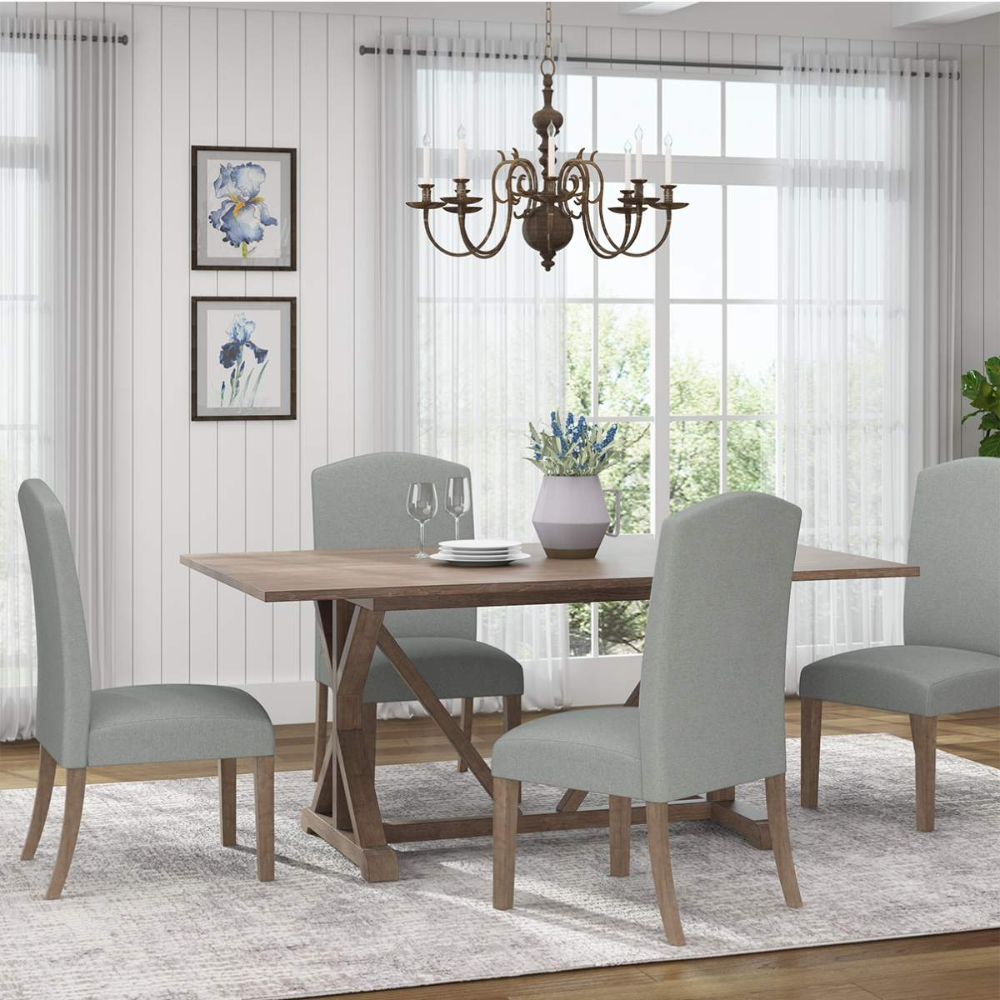 Candice Dining Set   Trestle Dining Table and Chairs   Jerome's in ...