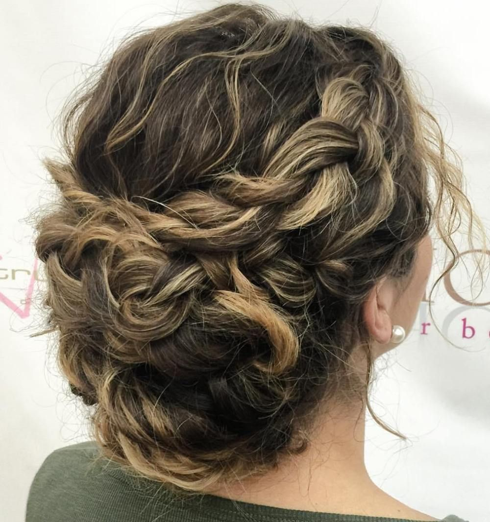 40 Creative Updos For Curly Hair Recogidos Con Pelo Rizado