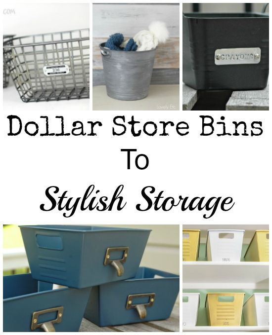 Dollar Store Kitchen Organization: Dollar Store Bins To Stylish Storage: Just Add Paint