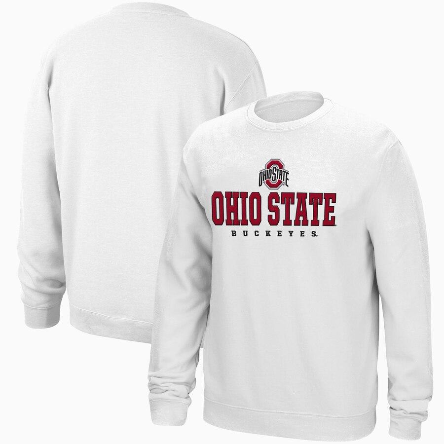 Men S White Ohio State Buckeyes Foundation Wordmark 2 0 Crew Neck Pullover Sweatshirt Ohio State Sweatshirt Sweatshirts Pullover Sweatshirt [ 900 x 900 Pixel ]