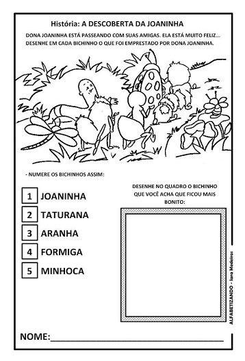 A Descoberta Da Joaninha Com Imagens Sequencia Didatica
