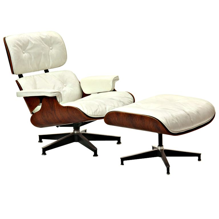 1stdibs Vintage White Leather Lounge by Charles & Ray