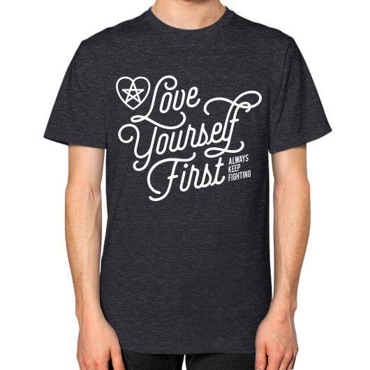 Love your self Unisex T-Shirt (on man)
