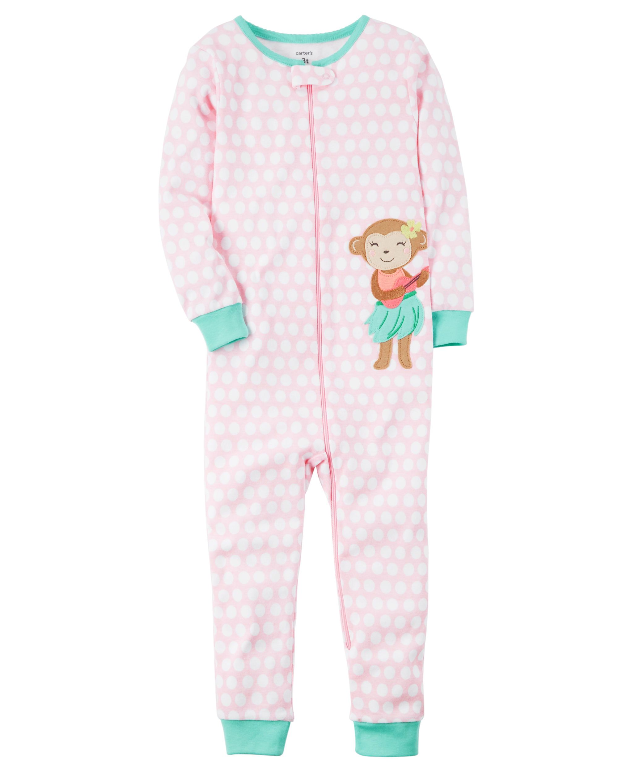 50a3c9de5b1f Baby Girl 1-Piece Snug Fit Cotton Footless PJs