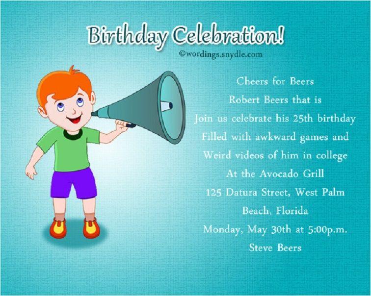 Write A Funny Party Invitation Birthday Party Invitation Wording