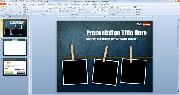 fred professional powerpoint presentation template | design ideas, Powerpoint templates