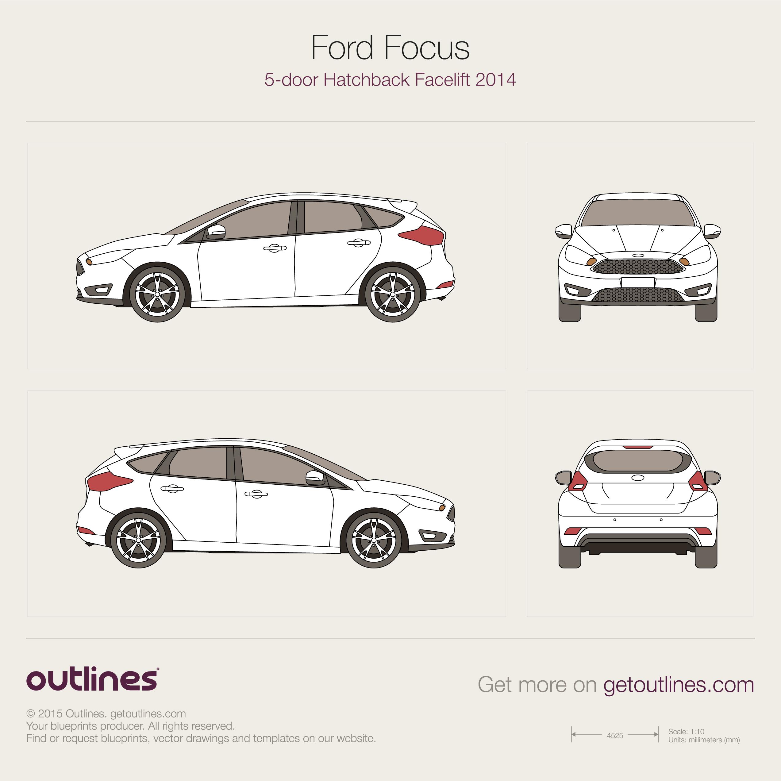 2013 Ford Fiesta ST Car Blueprint