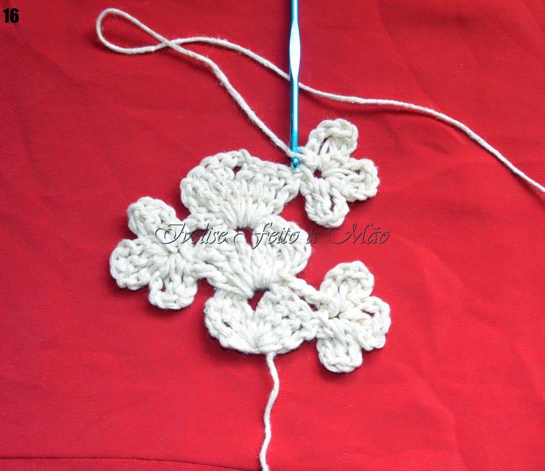 Ivelise Feito à Mão: PAP: Tirinha Decorativa Em Crochê