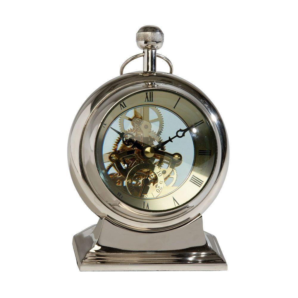 Clear Dial Desk Clock Ethan Allen Us Nautical Clocks