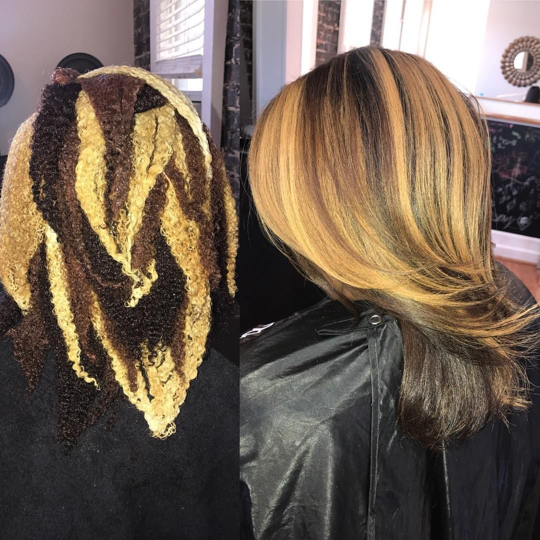 Color Placement Is Key Beforeandafter Bts Naturalhair Healthyhair Curlyhair Custom Dyed Natural Hair Natural Hair Styles Silk Press Natural Hair