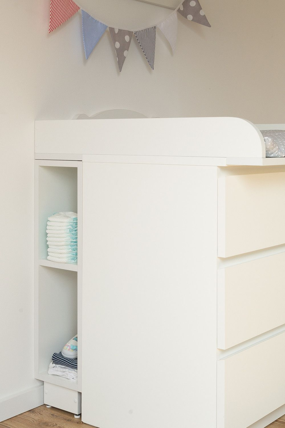 Wickeltischaufsatz Selber Bauen Children S Storage Room Shelf For Changing Table White Suitable