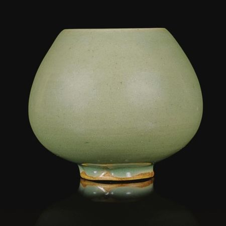A rare green 'jun' 'lotus bud' water pot. Song dynasty. photo Sotheby's