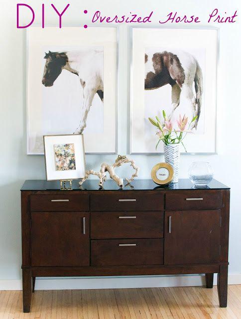 Diy Oversized Horse Print Art By Innovative Interior Stylish Western Home Decorating
