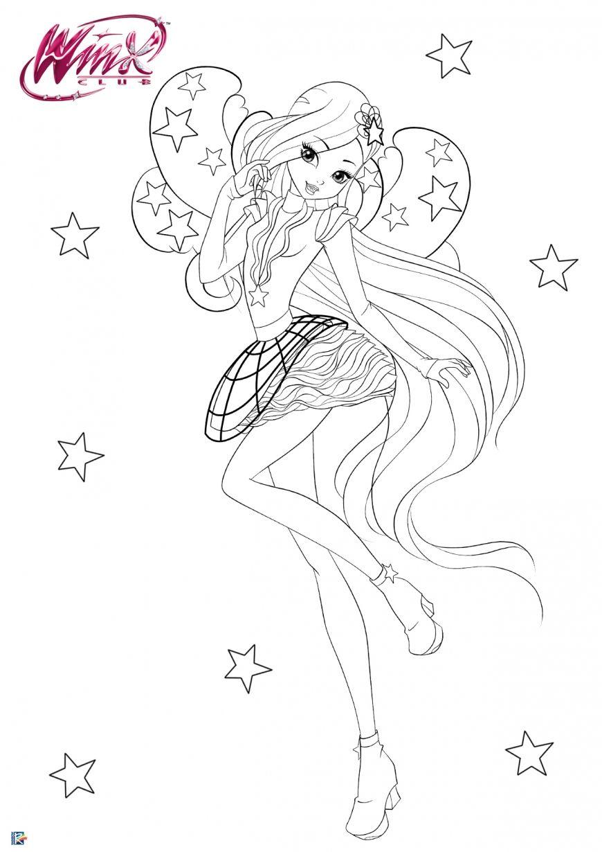 Winx Club Season 8 Cosmix Coloring Page Stella Coloring Pages Cartoon Coloring Pages Winx Club