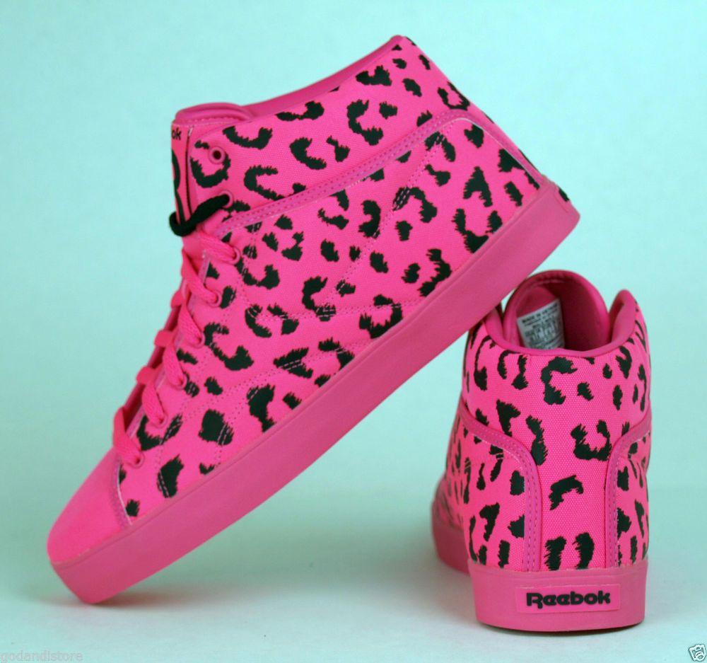 reebok money tyga t raww neon pink cheetah leopard