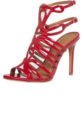 bf1f9af55 Sandália Santa Lolla Recortes Verniz Soft Vermelha | Sapatos ...
