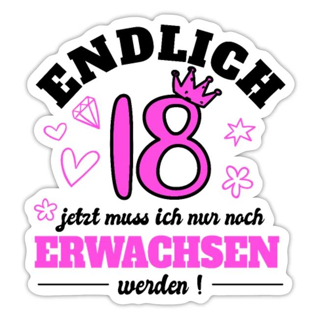 18 Geburtstag Mädchen Geschenk 18 Jahre volljährig